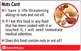 Translation Cards for Food & Drug allergies, Special Diets